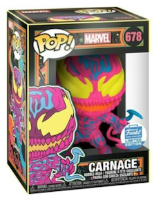 Funko Pop! Marvel Carnage 678 Black Light (Funko Shop 2020 Limited Edition)