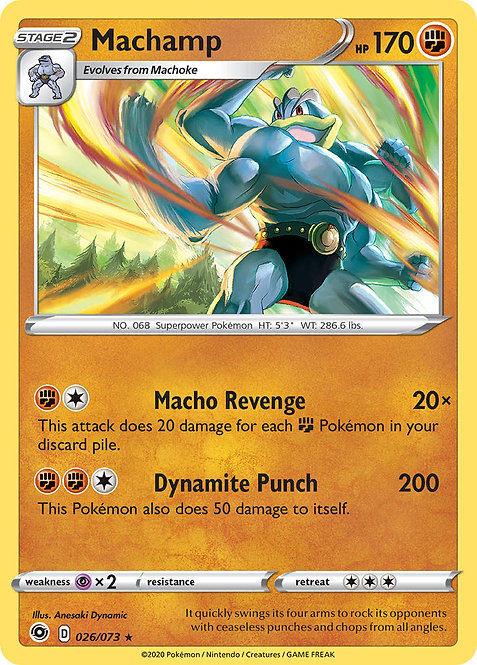 Machamp holo (Champion's Path #26)
