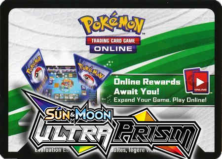 Ultra Prism Booster Pack (Pokemon TCGO Unused Code Card)