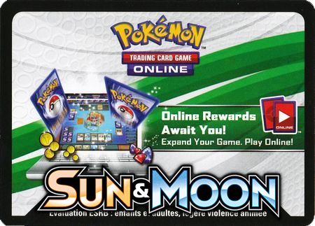 Sun & Moon Base Set Booster Pack (Pokemon TCGO Unused Code Card)