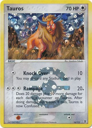 Tauros Reverse Holo (Fire Red & Leaf Green #16)