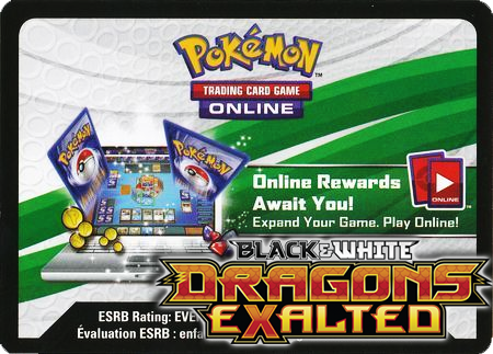 Dragons Exalted Booster Pack (Pokemon TCGO Unused Code Card)