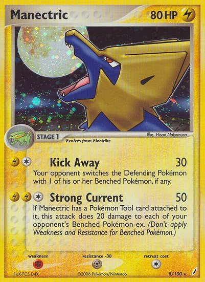 Manectric holo (Crystal Guardians #8)