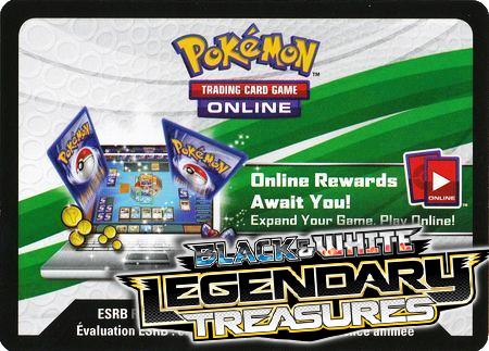 Legendary Treasures Booster Pack (Pokemon TCGO Unused Code Card)