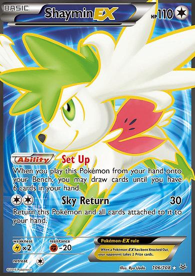 Shaymin EX Full Art (Roaring Skies #106)