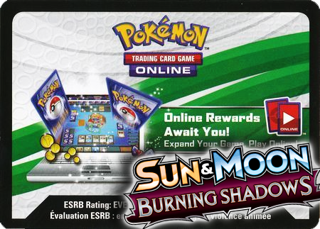 Burning Shadows Booster Pack (Pokemon TCGO Unused Code Card)