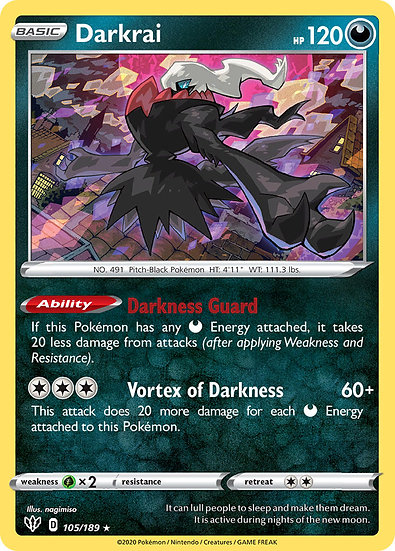 Darkrai holo (Darkness Ablaze #105)