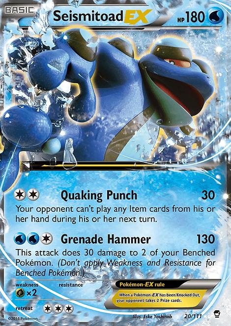Seismitoad EX (Furious Fists #20)