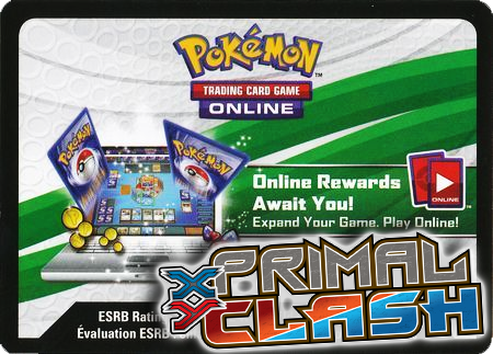 Primal Clash Booster Pack (Pokemon TCGO Unused Code Card)