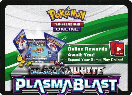 Plasma Blast Booster Pack (Pokemon TCGO Unused Code Card)
