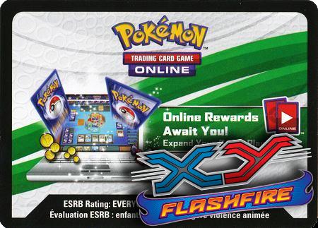 XY Flashfire Booster Pack (Pokemon TCGO Unused Code Card)