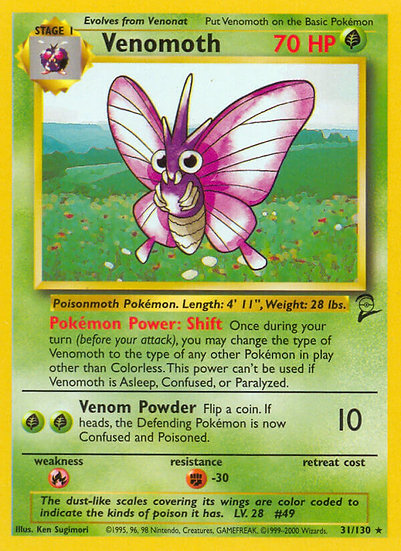 Venomoth Rare (Base Set 2 #31)