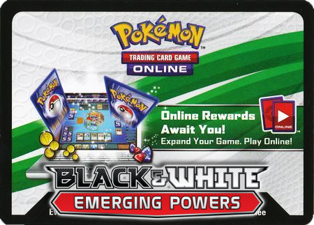 Emerging Powers Booster Pack (Pokemon TCGO Unused Code Card)