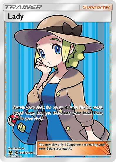 Lady Full Art - Pokemon Hidden Fates SV86