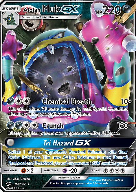 Alolan Muk GX (Burning Shadows #84)