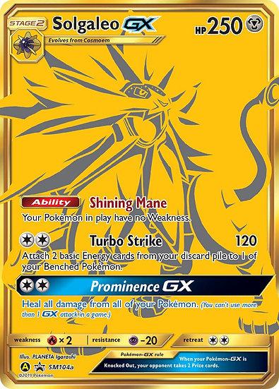 Solgaleo GX Gold Promo (Sun & Moon Promo SM104a)