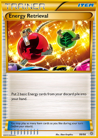 Energy Retrieval Secret Rare (Ancient Origins #99)