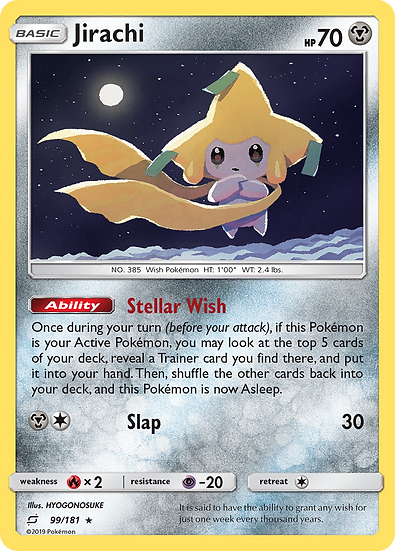 Jirachi Reverse holo (Team Up #99)