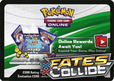 Fates Collide Booster Pack (Pokemon TCGO Unused Code Card)