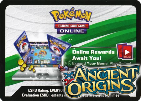 Ancient Origins Booster Pack (Pokemon TCGO Unused Code Card)