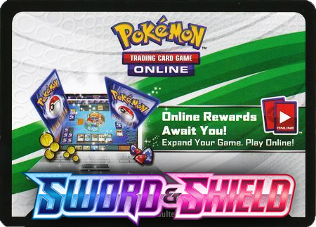 Sword & Shield Booster Pack (Pokemon TCGO Unused Code Card)