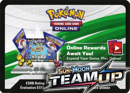 Team Up Booster Pack (Pokemon TCGO Unused Code Card)
