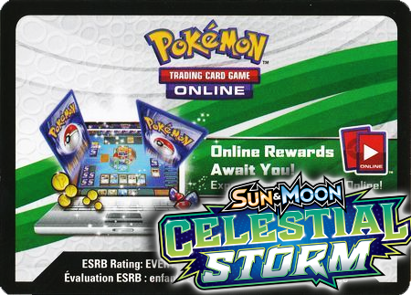 Celestial Storm Booster Pack (Pokemon TCGO Unused Code Card)