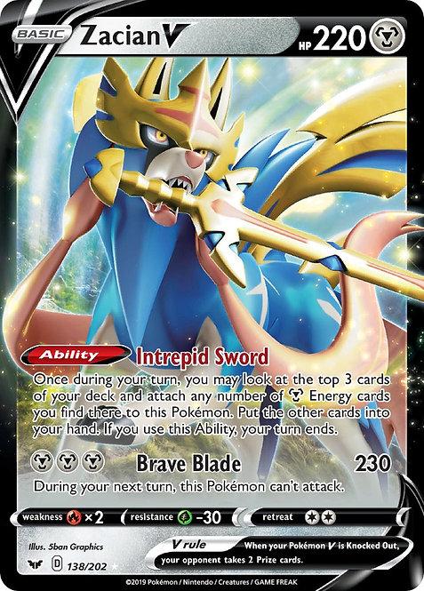 Zacian V - Pokemon Sword & Shield #138