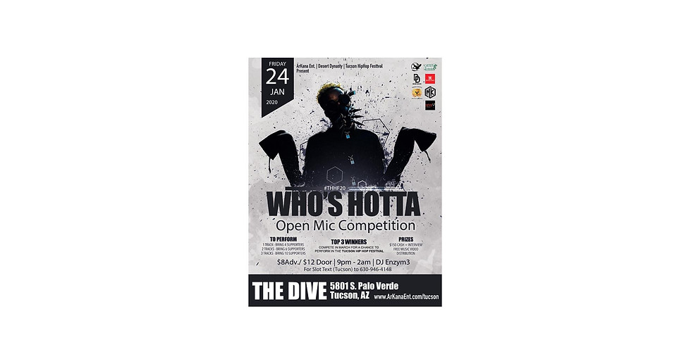 """""""WHO'S HOTTA"""" Open Mic Competition"""