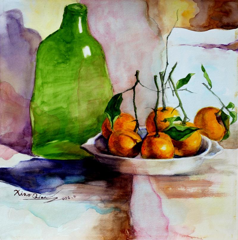 Watercolor 53X53cm