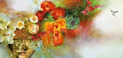The Secret Garden Mixed Media on canvas