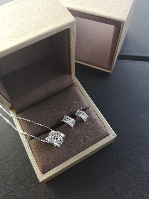 925 Sterling Silver Plated Fashion Gift Set