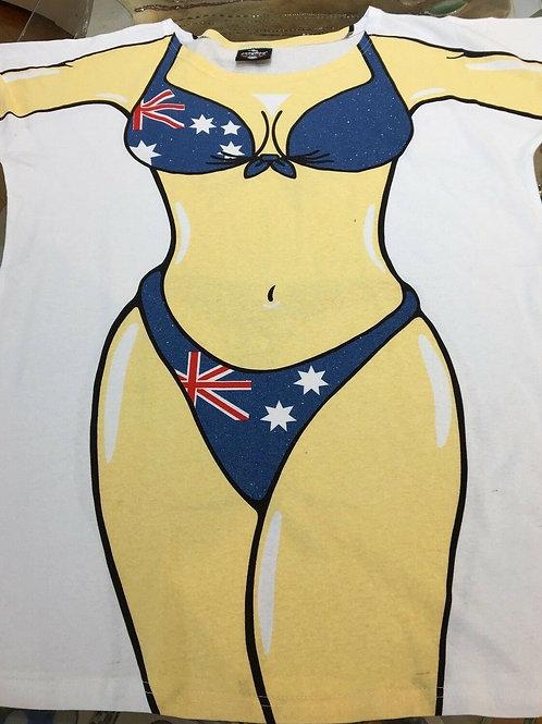 Australia day costumes bikini print beach top T shirt