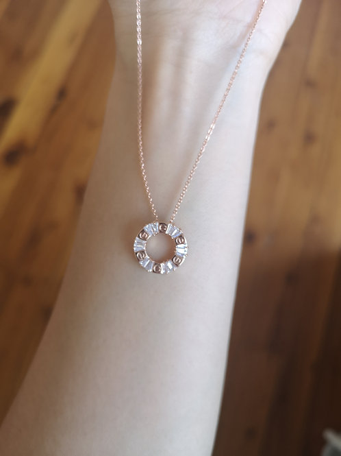 Love design pendant Rose Gold Plated fashion necklace