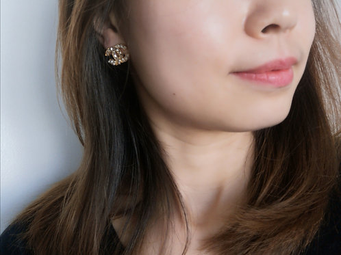 Gold Plated 925 Sterling Silver Post fashion lady earring