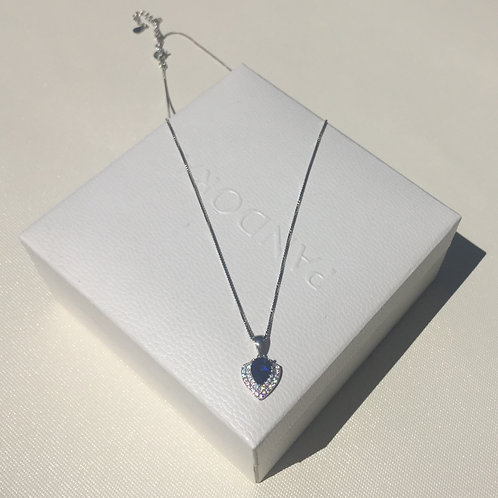 S925 sterling silver Femail fashion necklace  3A zircon jewelery