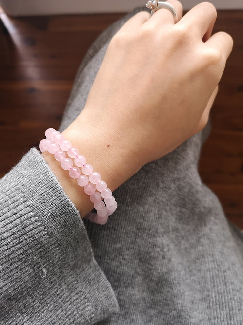 Love Stone Rose Quartz Bracelet 5.5-6.5mm beads