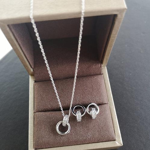 Tiffany 1837 Interlocking Circles Pendant Design Gift Set