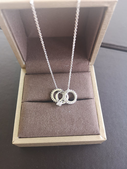 Cute Rings Design Pendant Lady Fashion Necklace