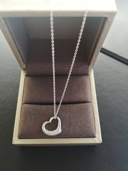 Tiffany Heart Design Pendant Lady Fashion Necklace