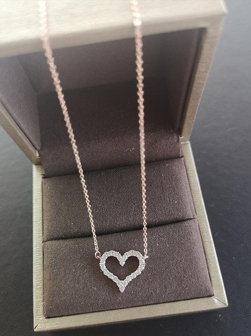 Heart Tiffany Design  Lady Fashion Necklace