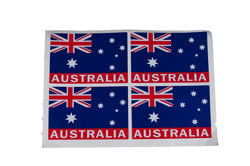 Australia Flag Stickers 4 pcs
