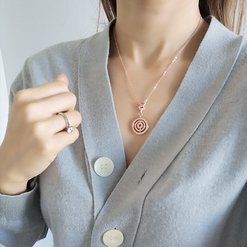 rose gold plated fashion necklace