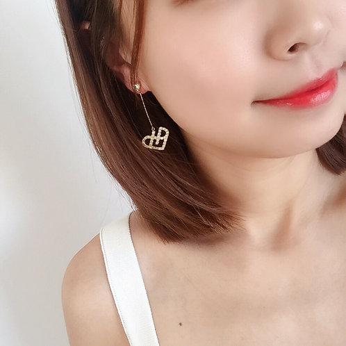 925 sterling silver fashion women drop earrings