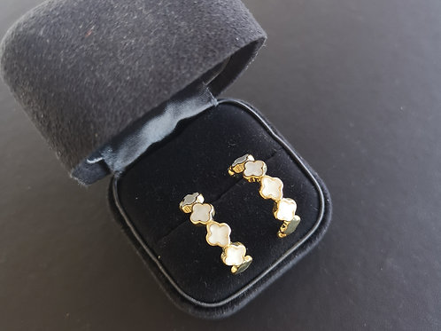 VAN CLEEF Lucky Clover Design Lady Fashion Earrings