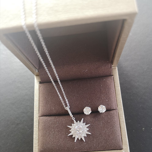 High Quality Lady Necklace with earrings set