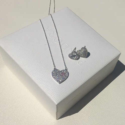 Fashion necklace with earrings set  SWAROVSKI crystal