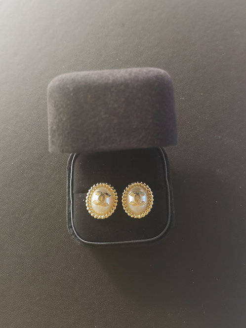 Vintage Chanel Design 925 sterling silver Fashion Earrings