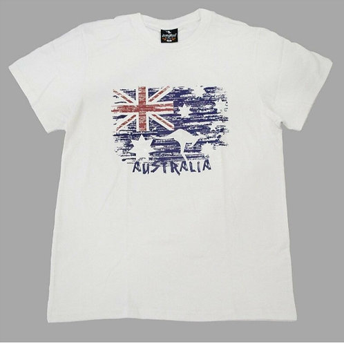 Unisex Adult Australia Flag Souvenir T-Shirt (100% Cotton)