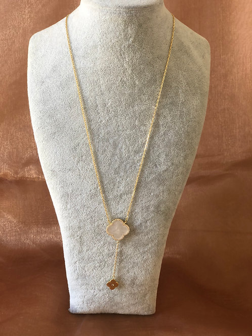 FASHION GOLD PLATED NECKLACE WITH   MOTHER OF PEARL
